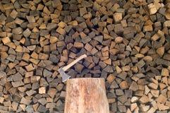 Gehakt brandhout Royalty-vrije Stock Foto
