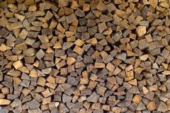 Gehakt brandhout Royalty-vrije Stock Foto's
