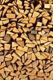 Gehakt brandhout Royalty-vrije Stock Afbeelding