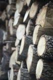 Gehakt brandhout voor huisopen haard Stock Foto