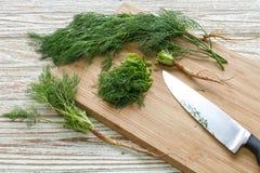 Gehakt de aard organische groen van het dille plantaardige ingrediënt stock foto's