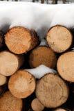 Gehakt opent de wintersneeuw het programma Royalty-vrije Stock Foto's