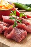 Gehakt vlees Stock Fotografie