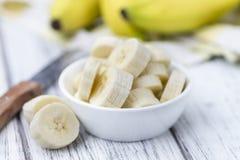 (Gehakte) bananen Stock Afbeeldingen