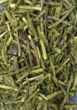 Gehakte groene asperge stock foto's
