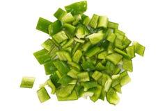 Gehakte groene groene paprika Royalty-vrije Stock Afbeelding