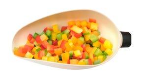 Gehakte groene paprika's stock fotografie