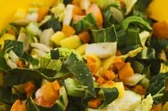 Gehakte groenten royalty-vrije stock fotografie