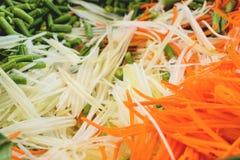 Gehakte papajawortel royalty-vrije stock afbeeldingen