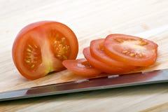 Gehakte rode tomaten Stock Afbeeldingen