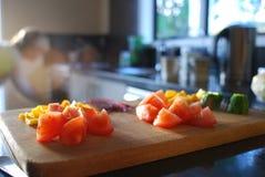 Gehakte saladegroenten Stock Foto