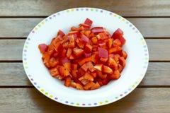 Gehakte Spaanse peper Stock Afbeelding