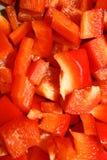 Gehakte Spaanse pepers Stock Fotografie