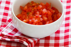 Gehakte Tomaten royalty-vrije stock foto