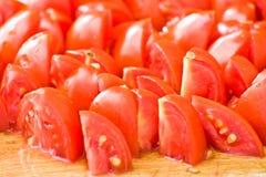 Gehakte tomaten Royalty-vrije Stock Foto's