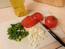 Gehakte verse groenten Stock Foto