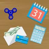 Gehalt auf Tabelle lizenzfreie abbildung