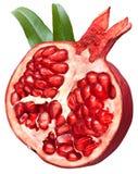 Gehalveerd granaatappelfruit stock foto's