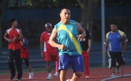 Gehandicapte atleet Stock Foto's