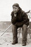 Gehandicapte dakloze landloper. Stock Fotografie