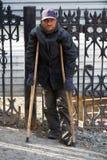 Gehandicapte daklozen. Royalty-vrije Stock Foto