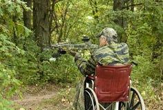 Gehandicapte jager Stock Foto's