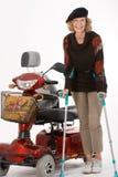 Gehandicapte oudere vrouwen Stock Afbeelding