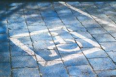 Gehandicapte parkeerplaats stock afbeelding