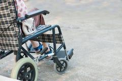 Gehandicapte patiënten op rolstoel Stock Fotografie