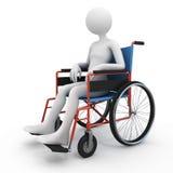 Gehandicapte persoon in rolstoel Royalty-vrije Stock Afbeeldingen