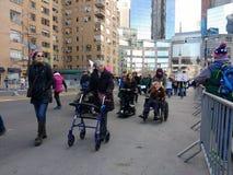 Gehandicapte Vrouwen` s Maart Demonstratiesystemen, NYC, NY, de V.S. Stock Afbeelding