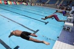 Gehandicapte zwemmer stock foto's
