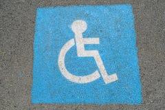 gehandicapten Stock Foto