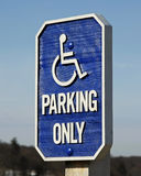 Gehandicapten die slechts parkeren Stock Afbeelding