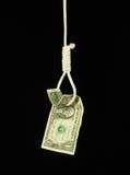 Gehangen Dollar Royalty-vrije Stock Afbeelding