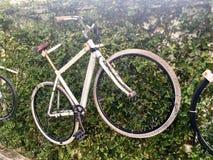 Gehangen fiets stock afbeelding