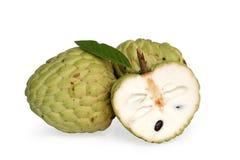 Geheel en gedeeltelijk Cherimoya fruit Royalty-vrije Stock Afbeeldingen