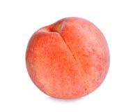 Geheel van perzik op het wit wordt geïsoleerd dat Royalty-vrije Stock Foto