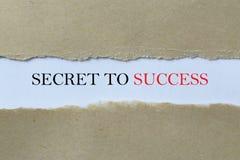Geheim aan Succesbericht stock foto
