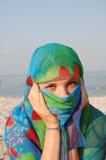 Geheim Arabisch meisje Stock Afbeelding