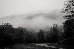 Geheim ergens in de bergen stock afbeeldingen