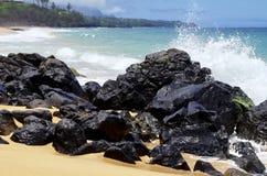 Geheim Strand, Kauapea, Kauai, Hawaï, de V.S. royalty-vrije stock fotografie
