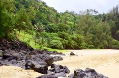 Geheim Strand, Kauapea, Kauai, Hawaï, de V.S. royalty-vrije stock afbeeldingen