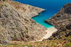 Geheim strand op ver eiland stock fotografie