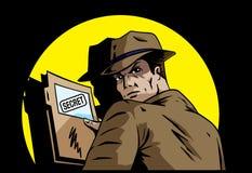 Geheimnispläne lizenzfreie abbildung
