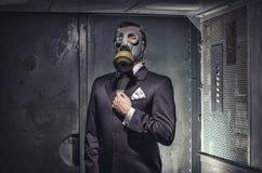 Geheimagent, Terrorist oder Geschäftsmann der Apocalypse? stockfotos