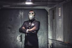 Geheimagent, Terrorist oder Geschäftsmann der Apocalypse? lizenzfreie stockbilder
