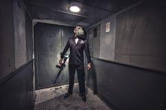 Geheimagent, Terrorist oder Geschäftsmann der Apocalypse? stockbild
