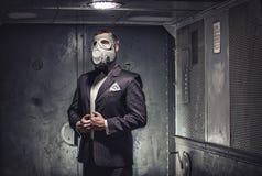 Geheimagent, Terrorist oder Geschäftsmann der Apocalypse? Stockbilder