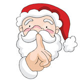 Geheime Kerstman Stock Afbeelding